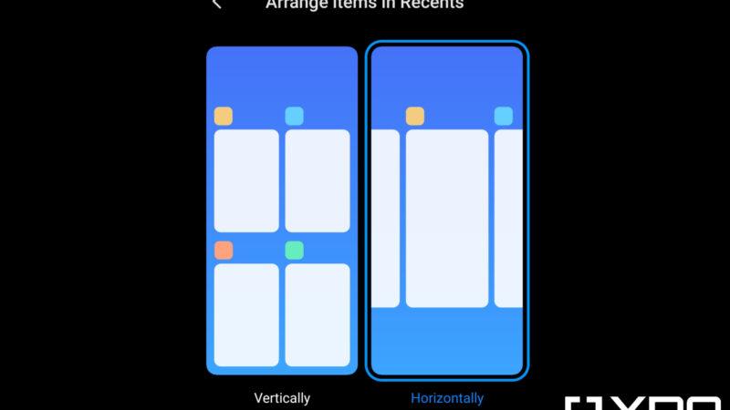 Xiaomi's MIUI Launcher is getting a horizontal recent apps screen